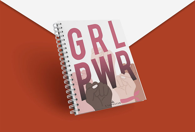 Cahier à spirale Girl power