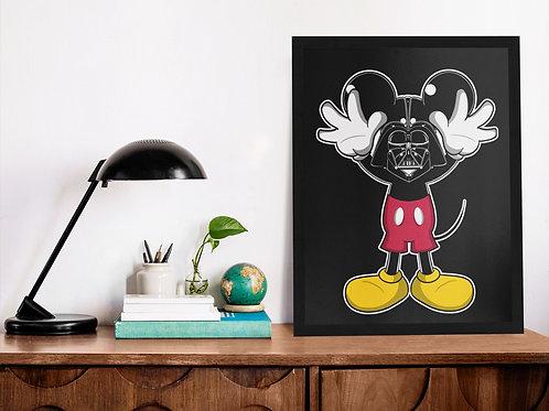 Affiche Illustration mickey star wars