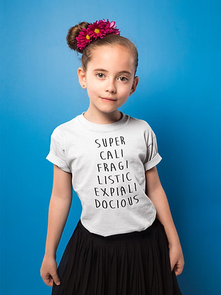 Tshirt enfant citation super cali fragi listic