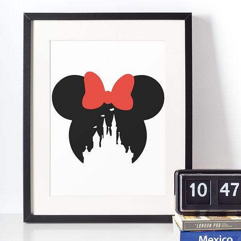 Affiche Château Disney avec Minnie