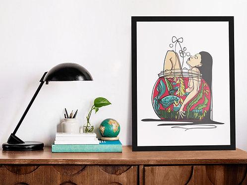 Affiche Illustration femme