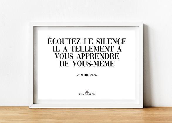 Affiche citation écoutez le silence 205