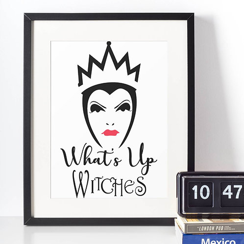 Affiche Dessin What's up witches