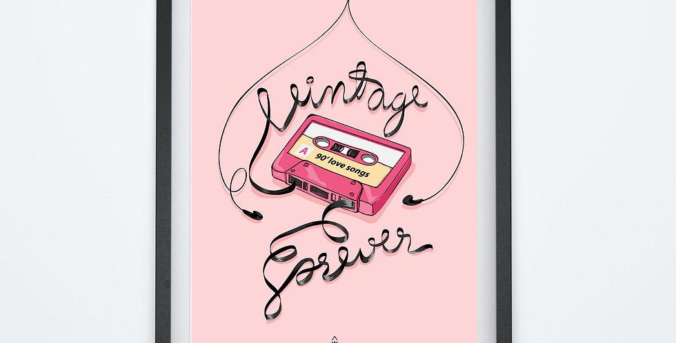 Affiche cassette vintage forever 28