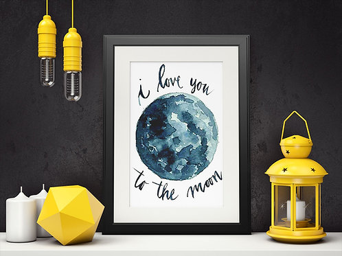 Affiche I love you to the moon