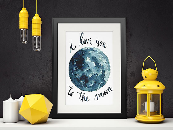 Affiche I love you to the moon 523
