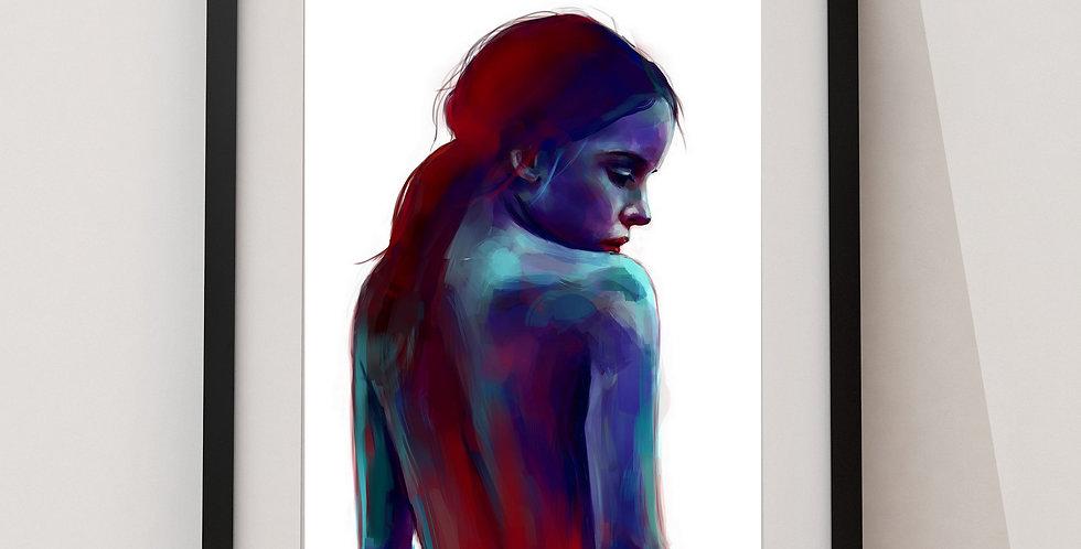 Affiche Femme watercolor 37