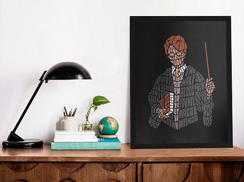 Affiche Illustration citation harry Poter
