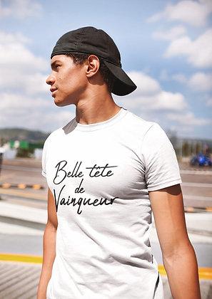 T-shirt Belle tête de vainqueur citation avec phrase