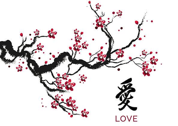 Tatouages éphémères arbre chinois