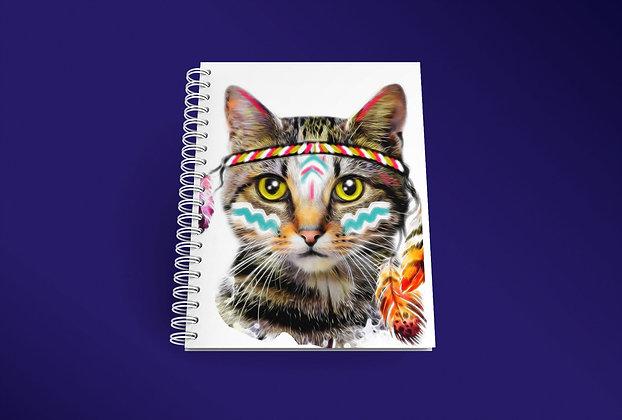 Cahier à spirale Chat indien
