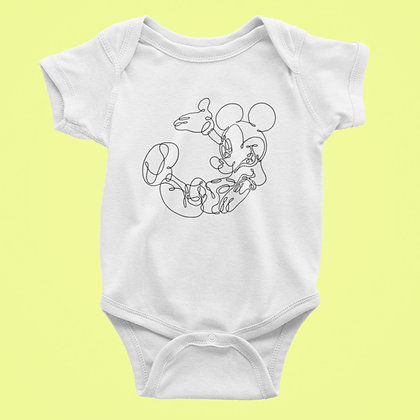 Body Bébé mickey dessin