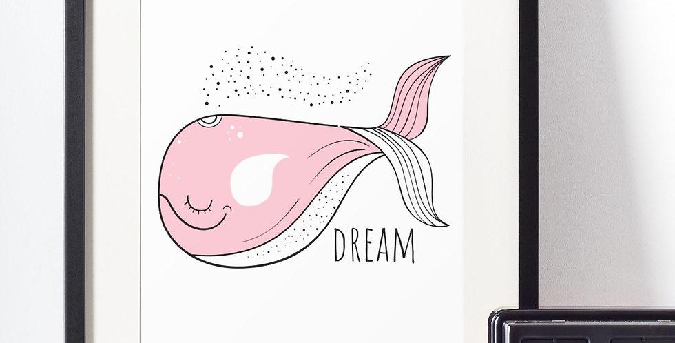 Affiche illustration baleine 416