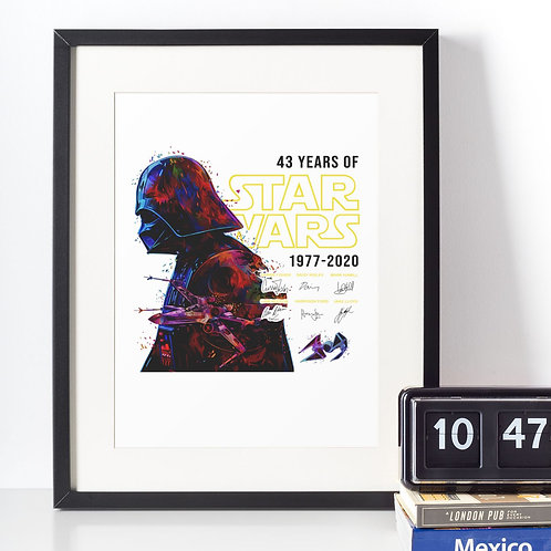 Affiche Dessin Star Warz 43 ans