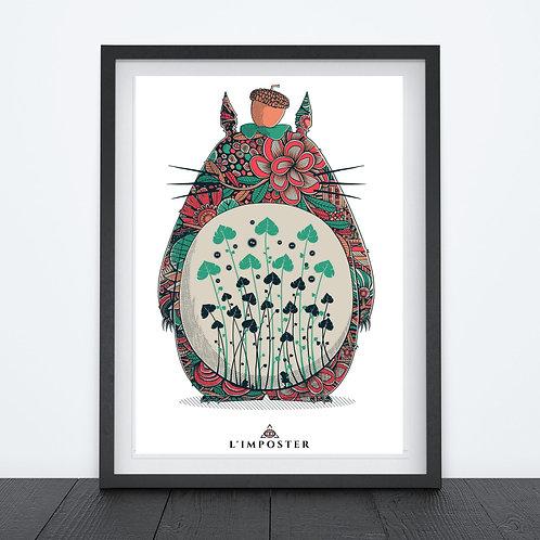 Affiche torototo fleuri