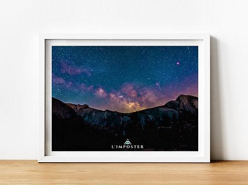 Affiche paysage ciel couleur
