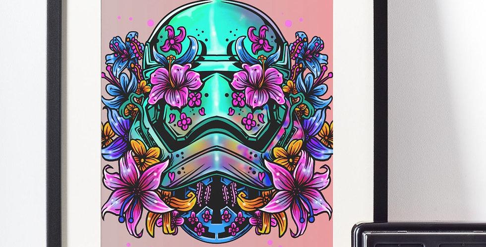 Affiche tête de mort fleuries 453