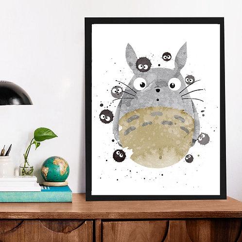 Affiche Totoro watercolor