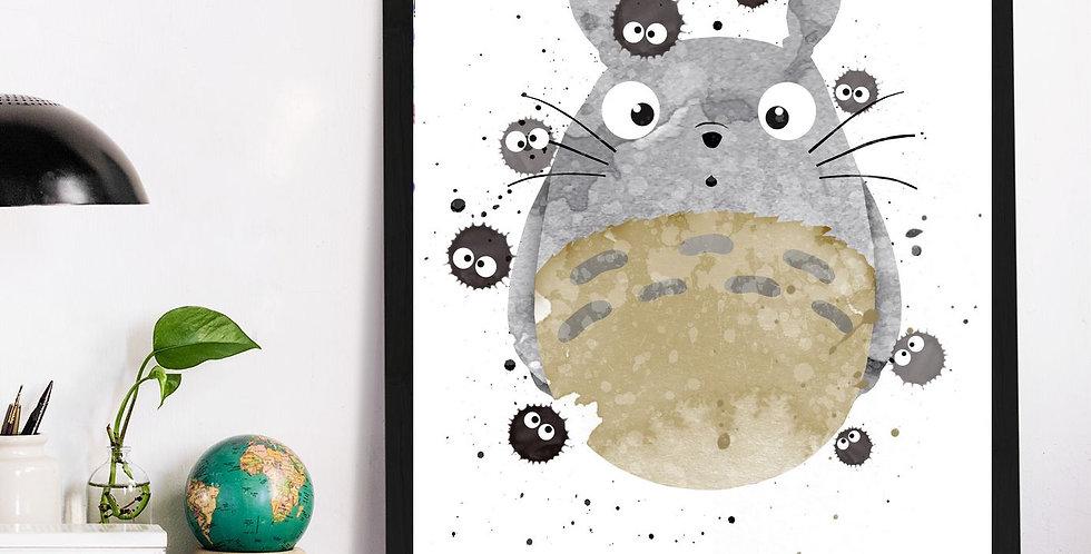 Affiche Totoro watercolor 542