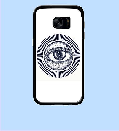 Coque mobile Samsung oeil bleu 337