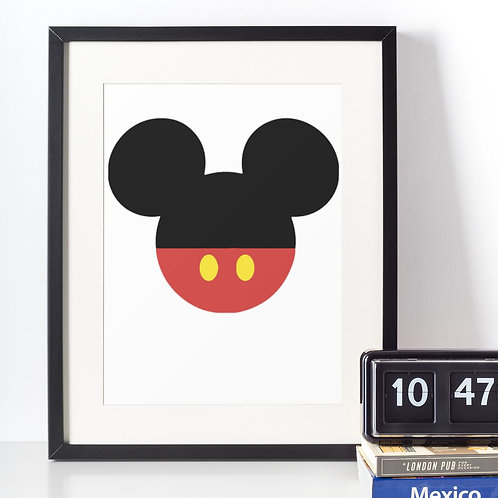 Affiche Silhouette Mickey