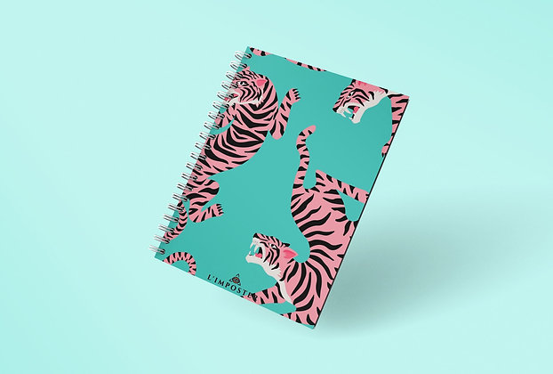 Cahier à spirale Pattern tigres
