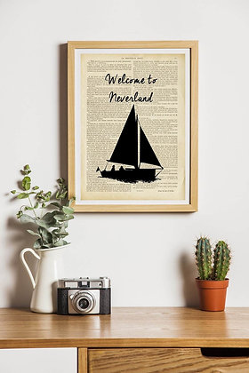 Affiche vintage Welcome to Neverland