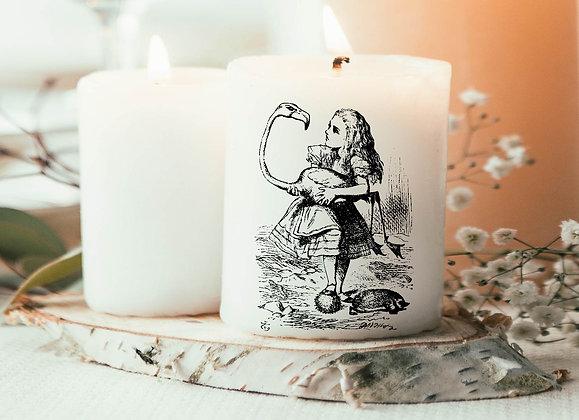 Bougie Imprimée Alice aux pays des merveilles vintage Disney