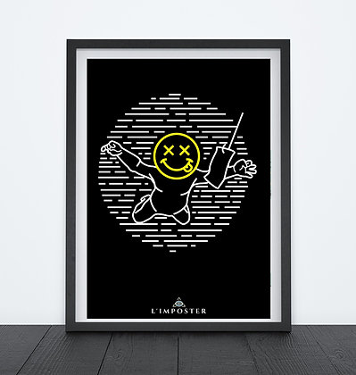 Affiche smiley langue 260