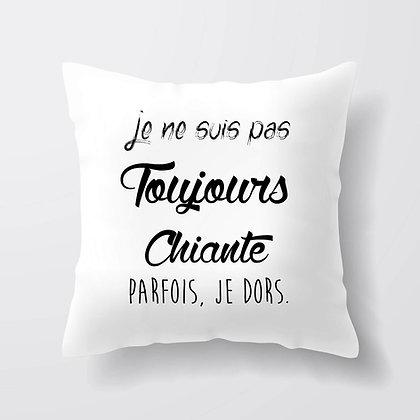 Housse de coussin Toujours chiante Citation 216