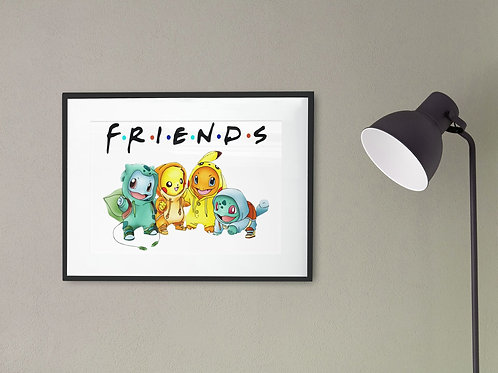 Affiche Dessin Pokemon Friends