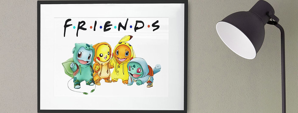 Affiche Dessin Pokemon Friends 490