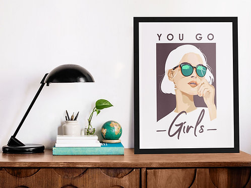 Affiche Illustration citation girls 326