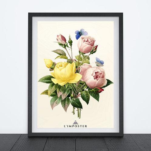 Affiche Fleur watercolor