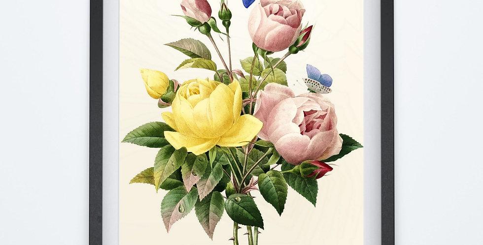 Affiche Fleur watercolor 36