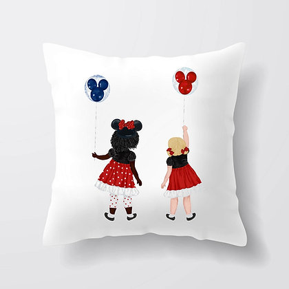 Housse de coussin fille&Mickey