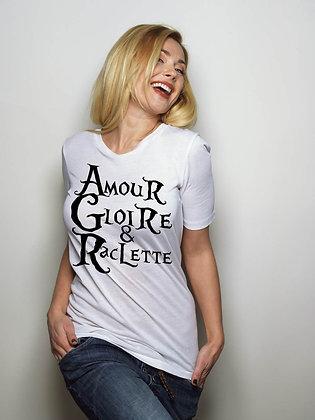 T-shirt Amour gloire et raclette citation drole