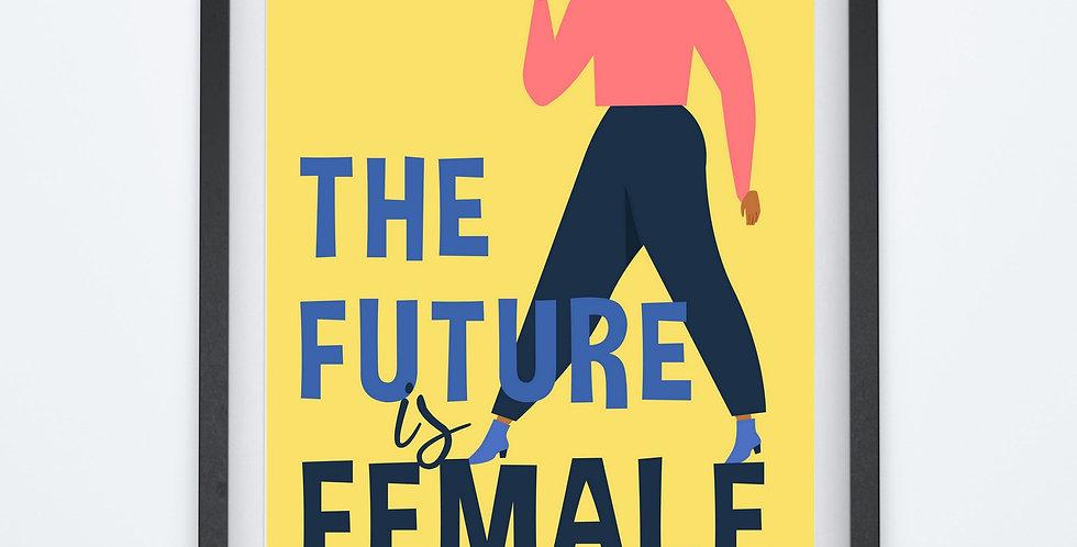Affiche citation future is female 181