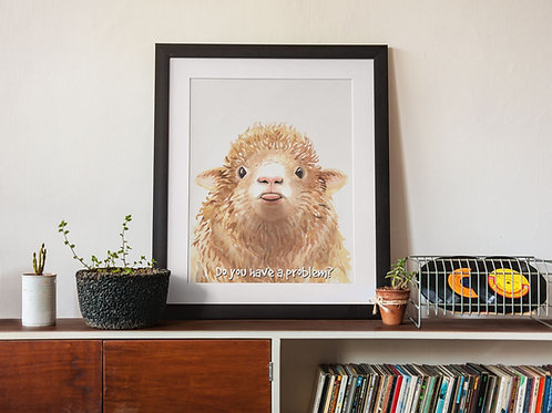Affiche Illustration mouton