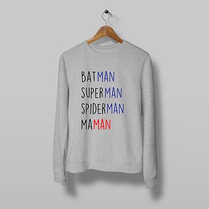 Sweat Pull Over Batman superman spiderman maman