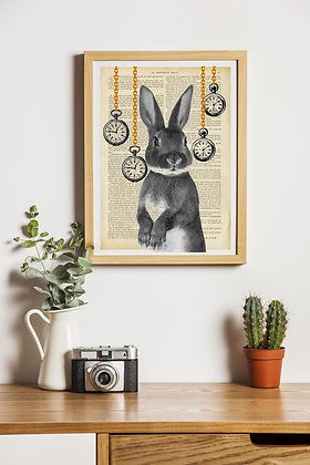 Affiche vintage Lapin it's tea time