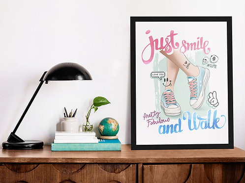 Affiche Illustration citation smile