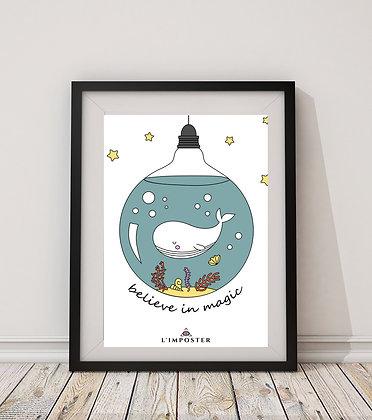 Affiche citation baleine 251