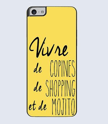 Coque mobile iPhone vivre de copines shopping et mojito 774