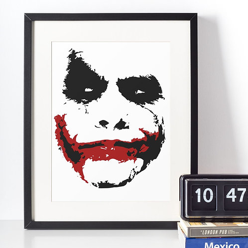 Affiche illustration joker (clown)