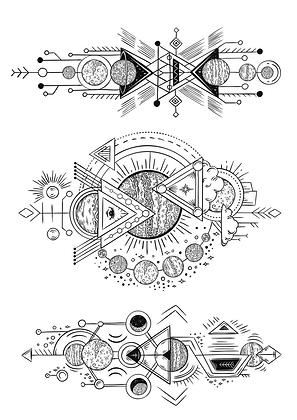 Tatouages éphémères forme géométrique