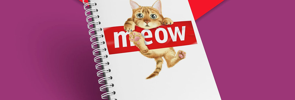 Cahier à spirale chat funny meow