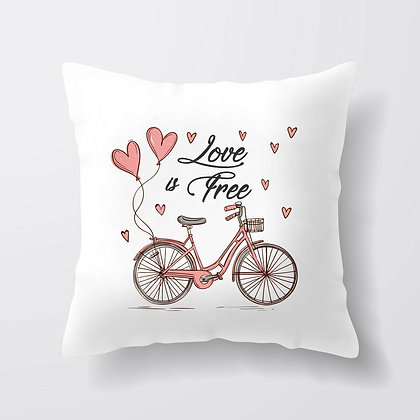 Housse de coussin Love is free Citation