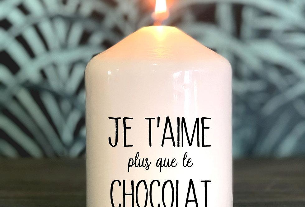 Bougie Message je t'aime plus que le chocolat 01