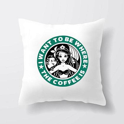 Housse de coussin Sirène coffee
